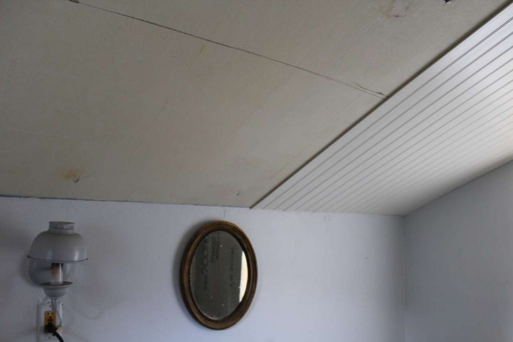 DIY PVC Bead Board Ceiling - Putting up the Bead Board