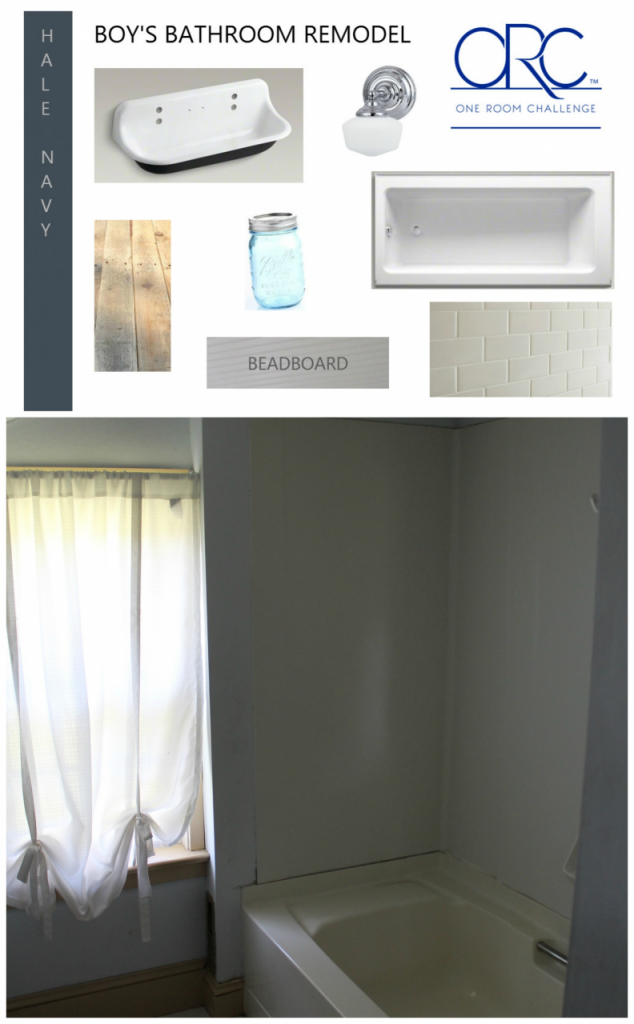 It's finallly time to remodel our boys bathroom and sharing it as a guest participant on the One Room Challenge. Stop by to see the boys bathroom ideas we have planned for this room! #boysbathroom http://lehmanlane.net