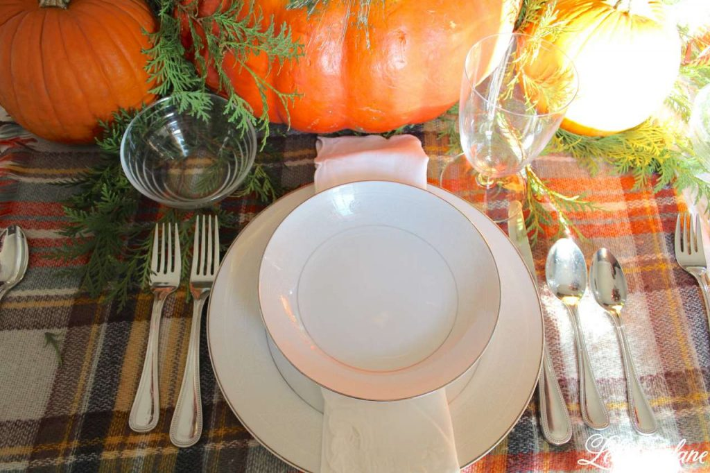 Quick and Simple Thanksgiving Table Setting = decorating in under 10 mins - create & share challenge - Lehman lane