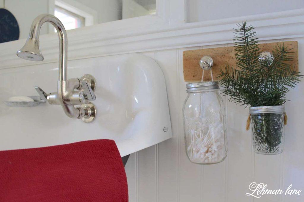 A Very Farmhouse Christmas Home Tour - boys bathroom
