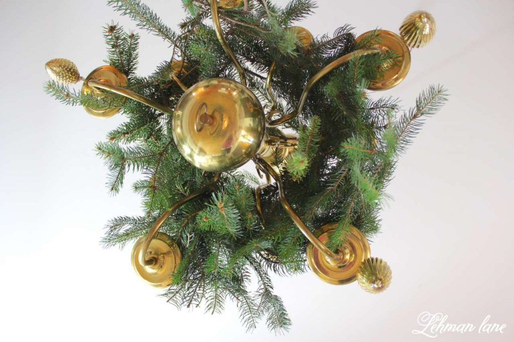 A Very Farmhouse Christmas Home Tour - chandelier