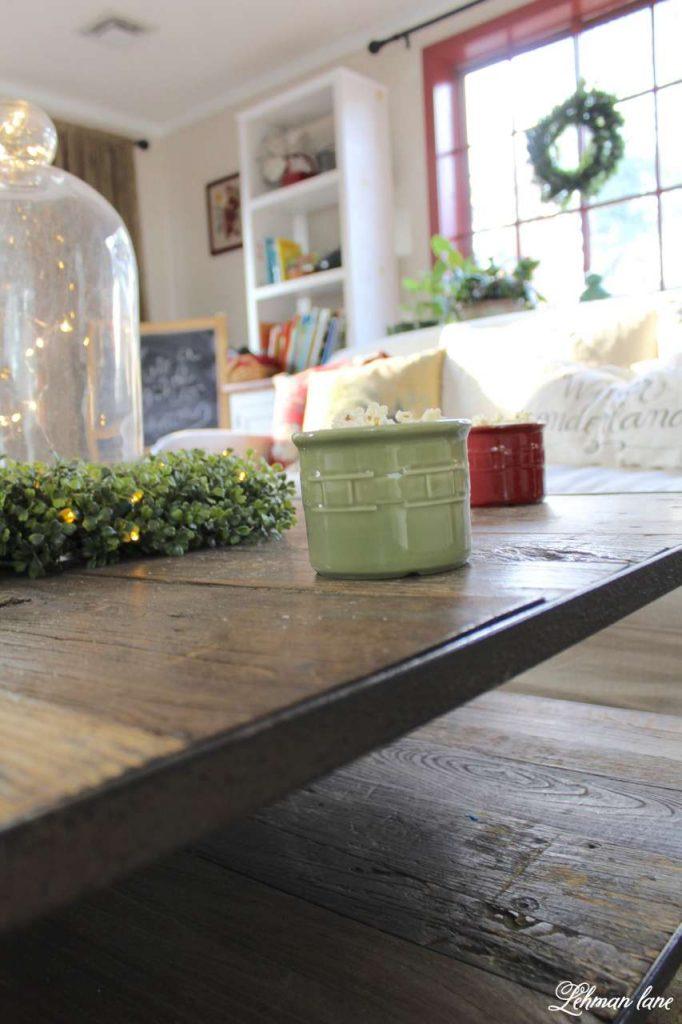 A Very Farmhouse Christmas Home Tour - coffee table