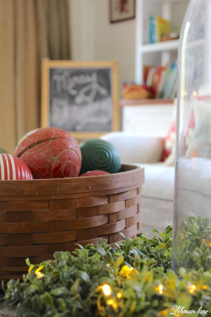 A Very Farmhouse Christmas Home Tour - coffee table closeup