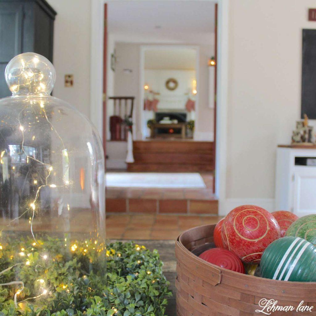 A Very Farmhouse Christmas Home Tour - family room