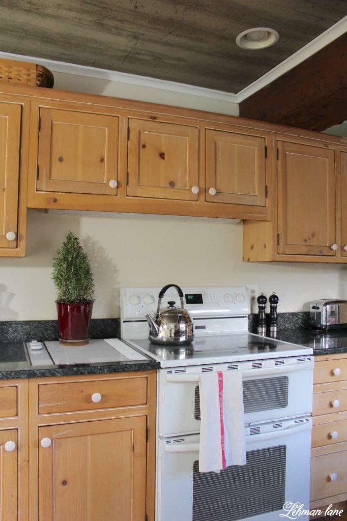 A Very Farmhouse Christmas Home Tour - kitchen stove