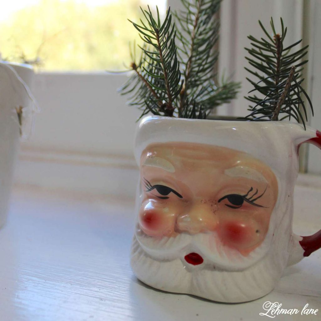 A Very Farmhouse Christmas Home Tour - santa mug