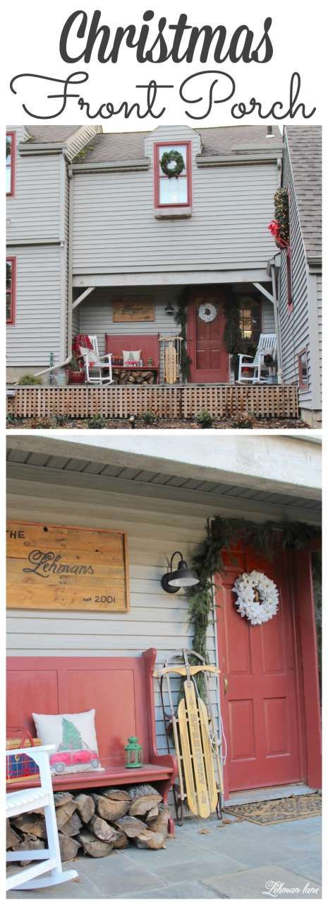 Stop by to see our Farmhouse Christmas Front Porch - #frontporch #farmhouse http://lehmanlane.net