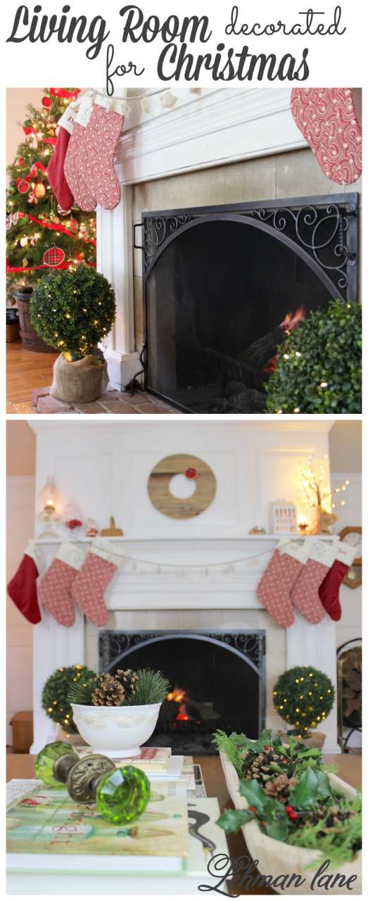 If you are looking for ideas on how to decorate your Living room for Christmas, syop by to see my CHristmas living room as well as 28 other Christmas tours from my blogging friends! #christmas #livingroom http://lehmanlane.net