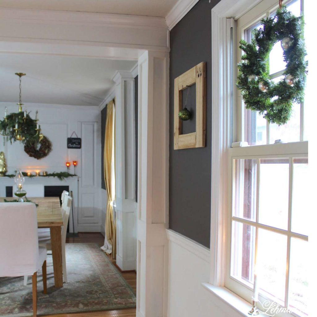 Christmas Living Room - Very Merry Christmas Tour - farmhouse dining room