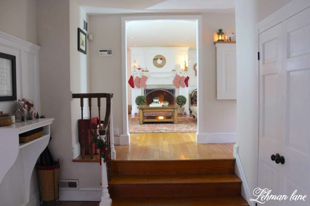 Christmas Living Room - Very Merry Christmas Tour - entryway into the living room