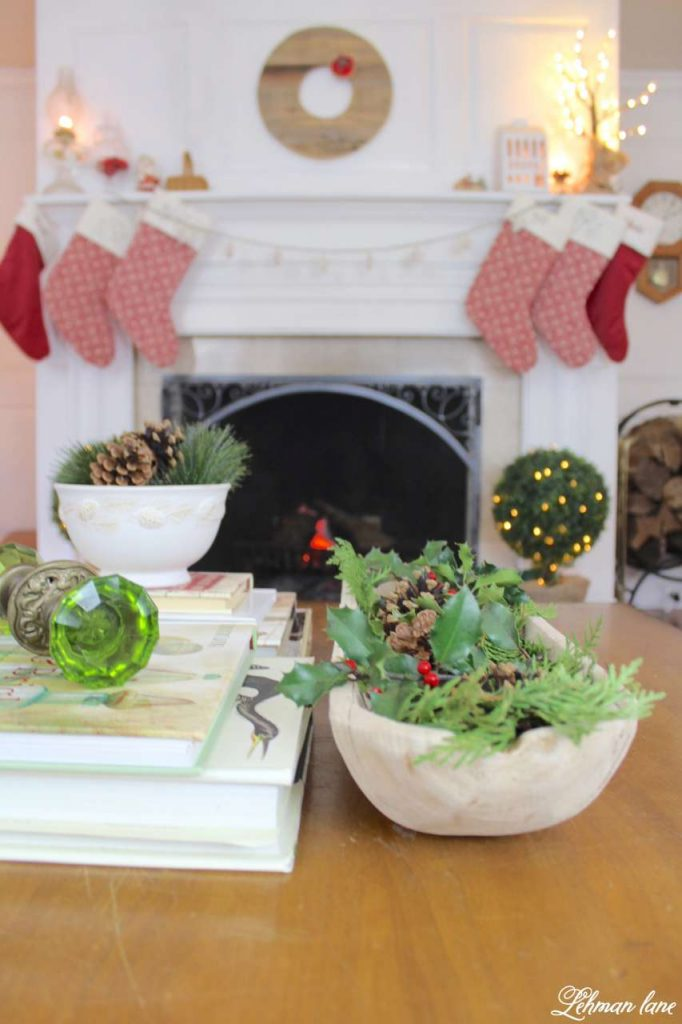 A Very Farmhouse Christmas Home Tour - fireplace