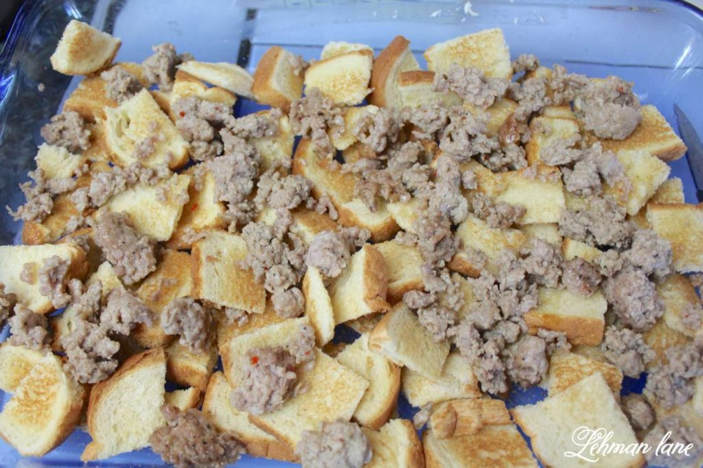 Egg and Sausage Casserole Recipe - This is our family's favorite holiday breakfast recipe - crumbled sausage
