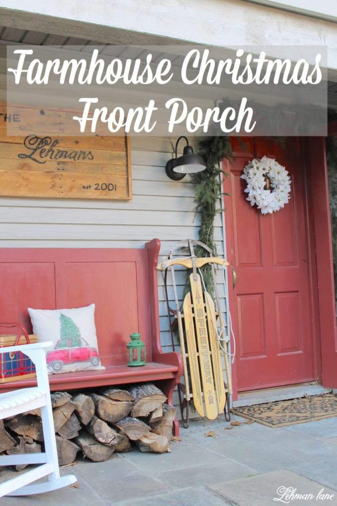 Farmhouse Christmas Front Porch #christmasporch http://lehmanlane.net