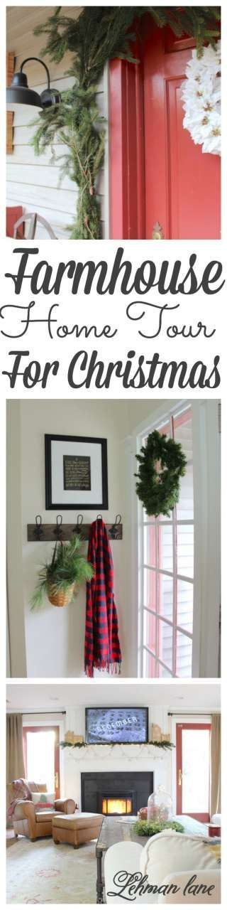 Looking for some farmhouse inspiration? Stop by to see our farmhouse Christmas Home Tour along with 15 more farmhouse Christmas Home Tours! #christmas #farmhouse http://lehmanlane.net
