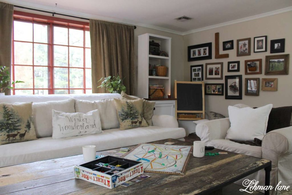 Winter Home Tour - family room and gallery wall
