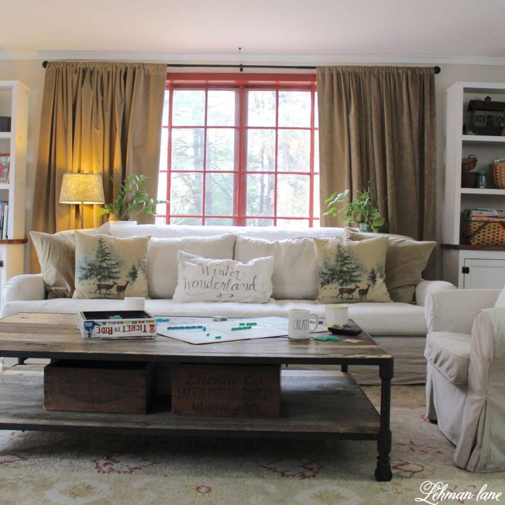 Winter Home Tour - family room, sofa