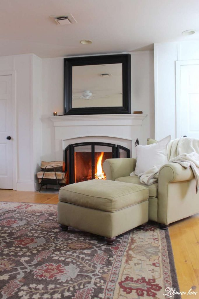 Winter Home Tour - master bedroom fireplace