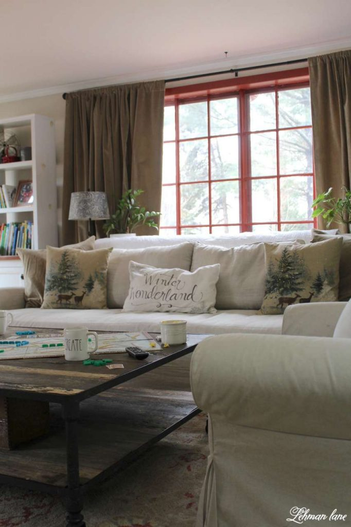 Winter Home Tour - family room and sofa