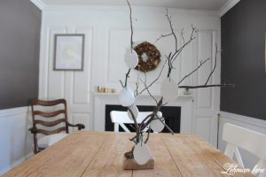Stick Tree and Clay Ornaments for Easter
