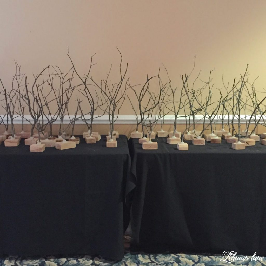 Stick Tree Craft for women's retreat