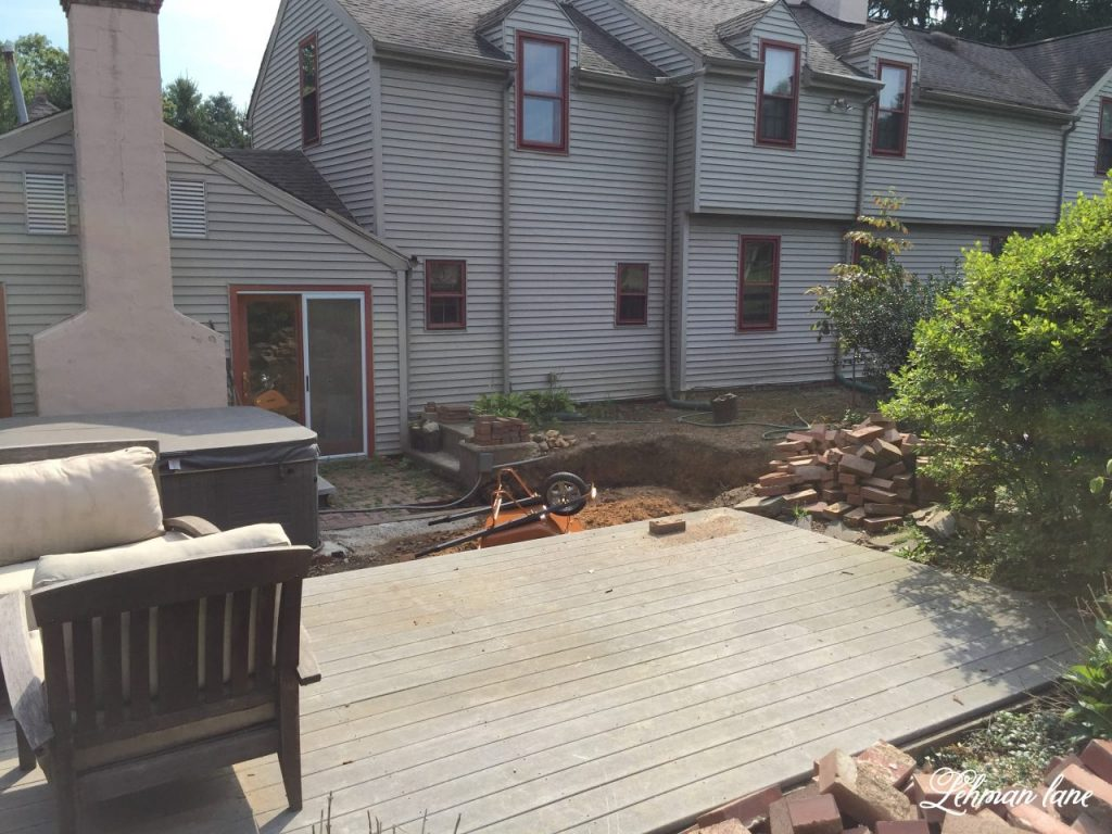 Back Patio - the plan and deck demo