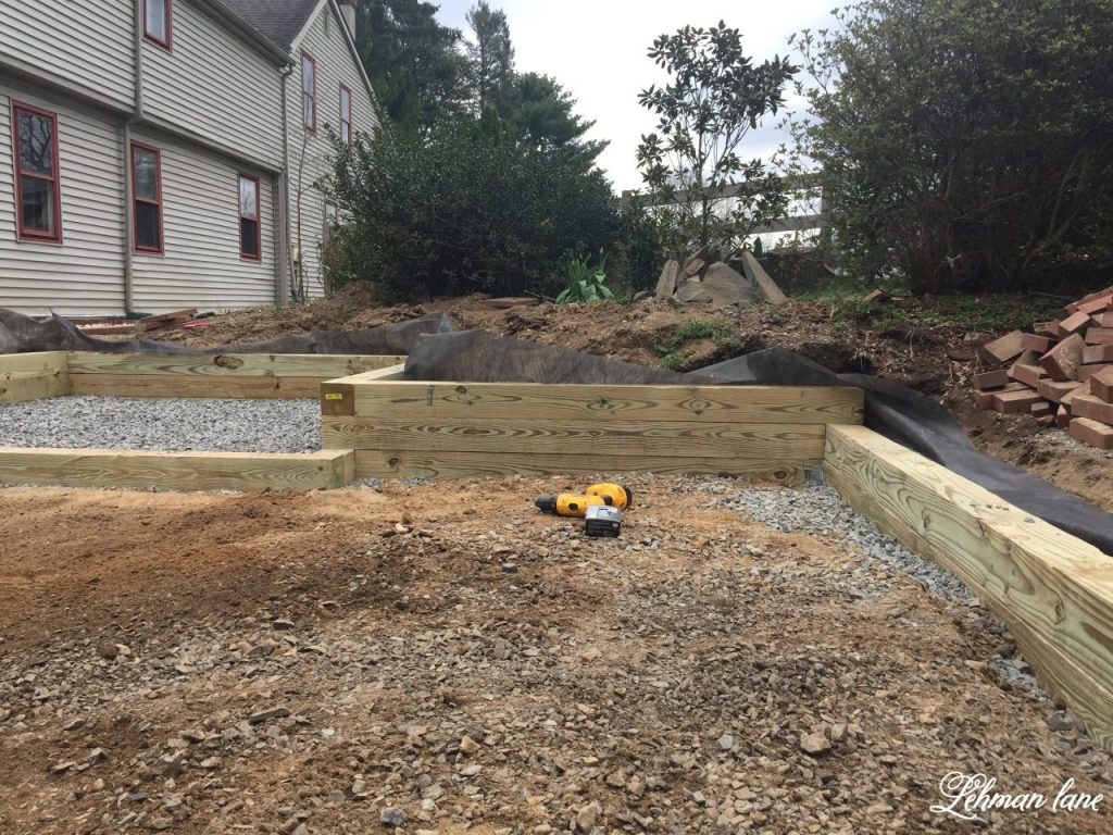 Building A Wood Retaining Wall Lehman Lane