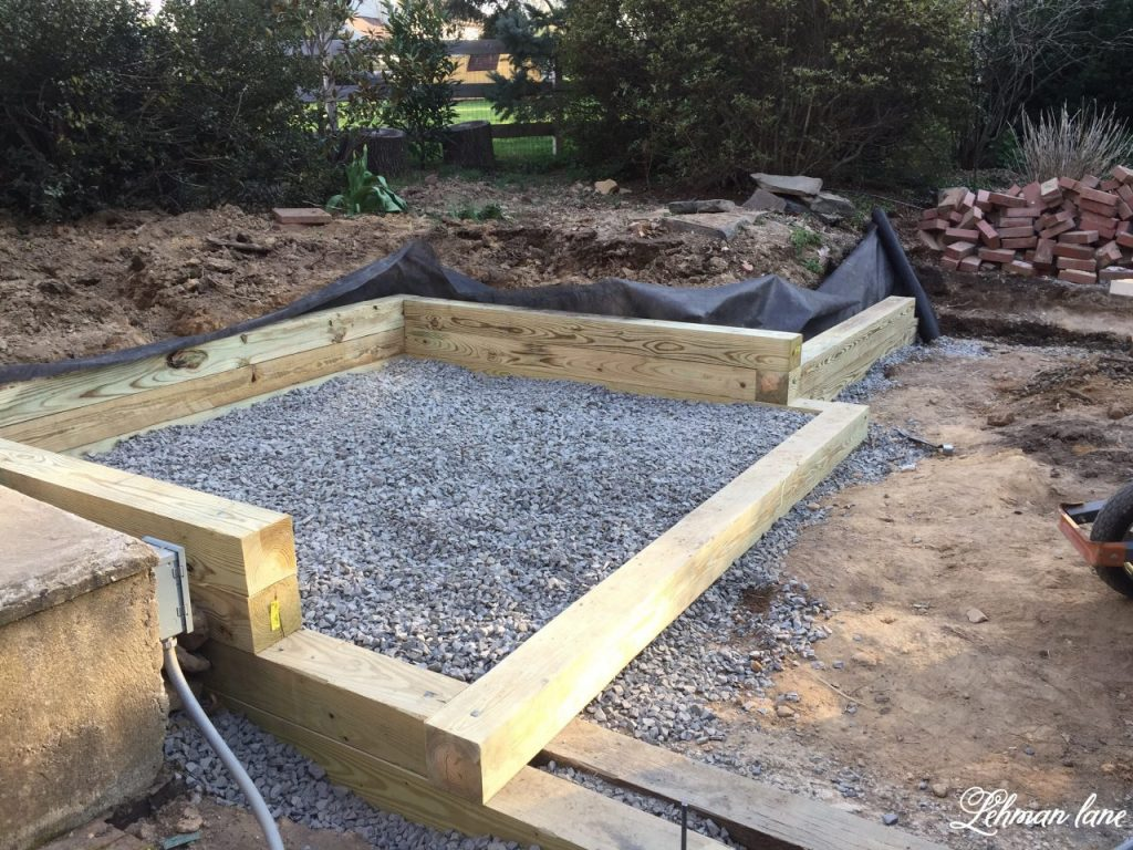 Build a Wood Retaining Wall - hot tub area
