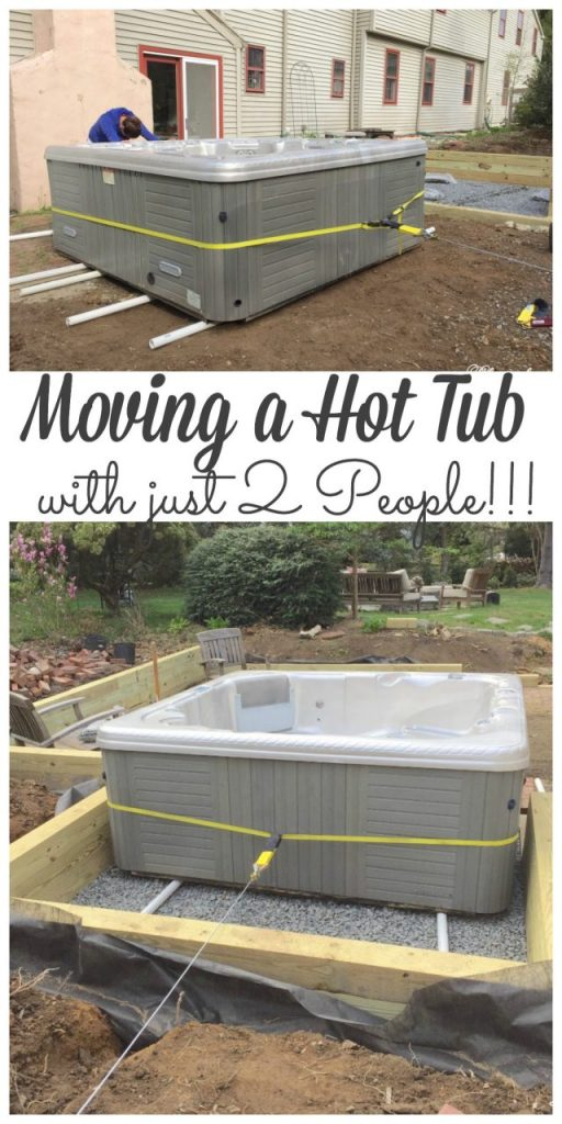 We moved our 700lb hot tub with just 2 People and didn't even break a sweat! Stop by to see how we did it. #movingahottub #hottub http://lehmanlane.net