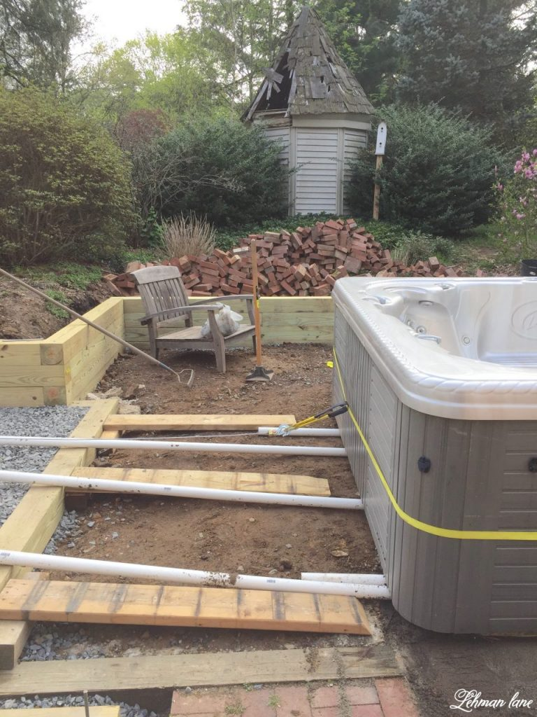 Moving a Hot Tub with just 2 People - ramp and moving pipes