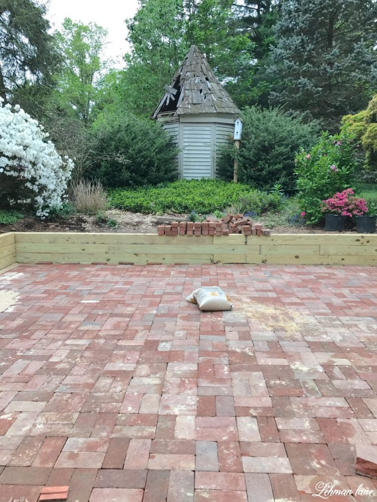 Diy brick patio lehman lane for Diy brick projects