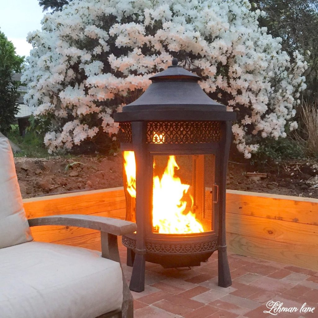 DIY Brick Patio - fire pit
