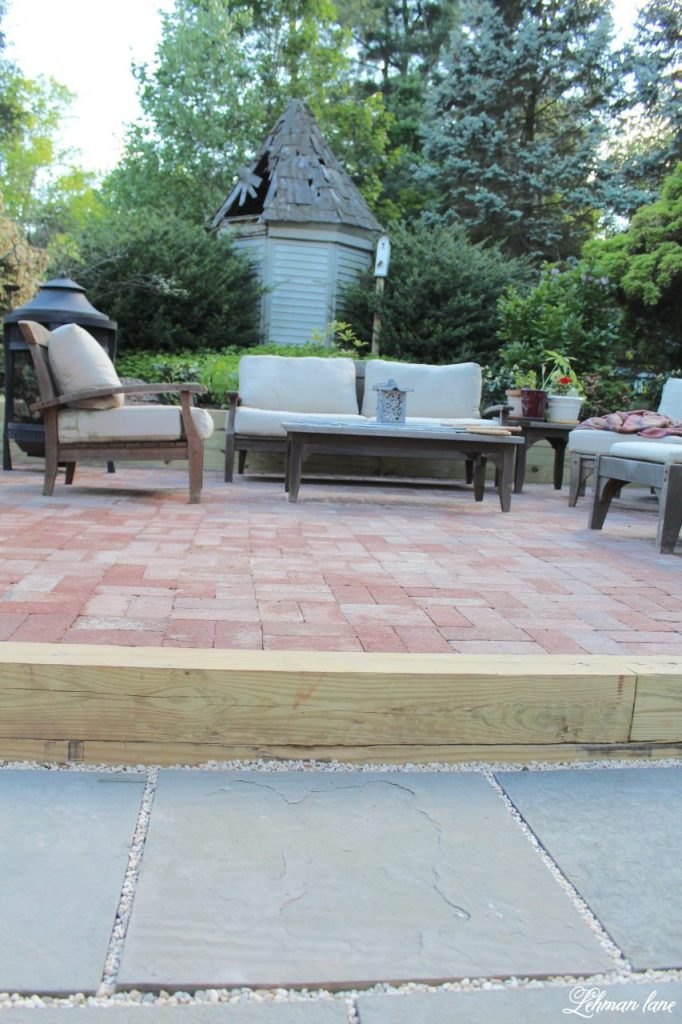 DIY Flagstone Patio / Pennsylvania Bluestone & brick patio