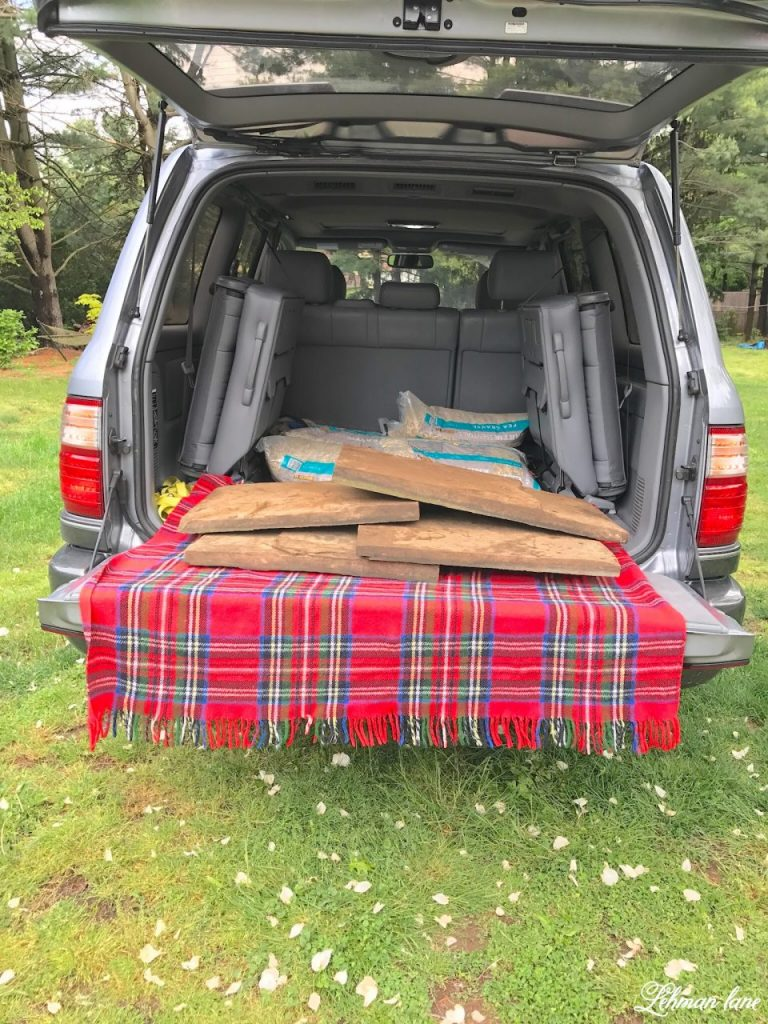 DIY Flagstone Patio / Pennsylvania Bluestone - car tailgate