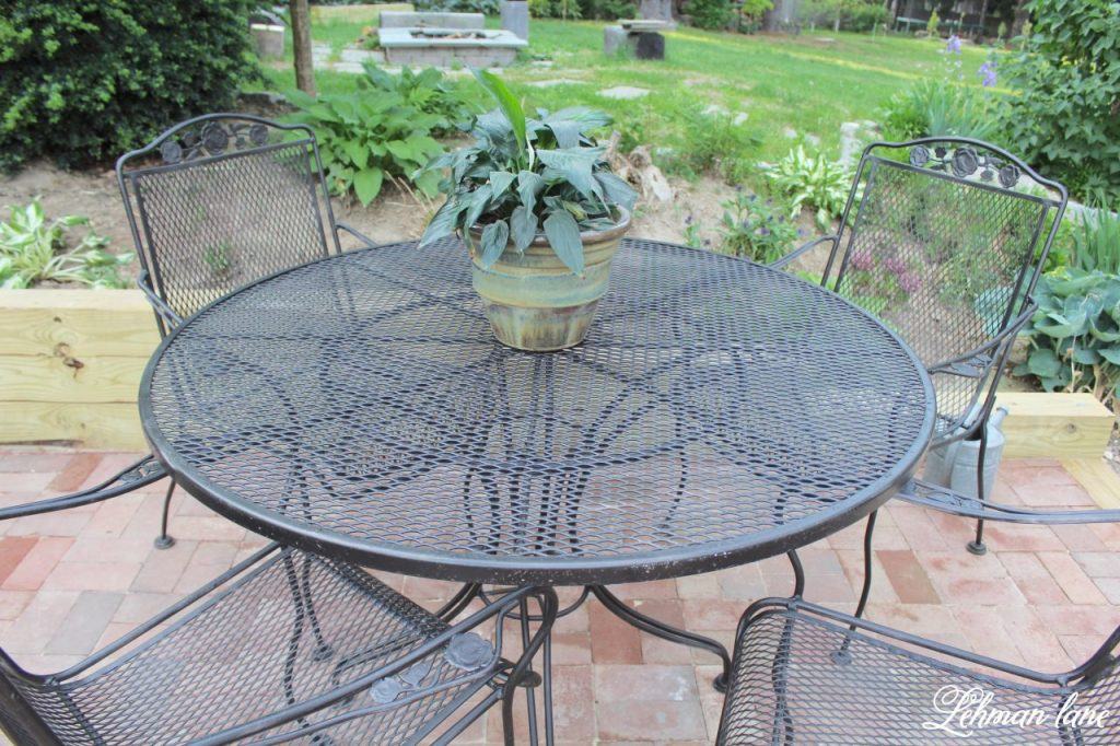 Spray Paint Patio Furniture Our Vintage Wrought Iron Patio Set