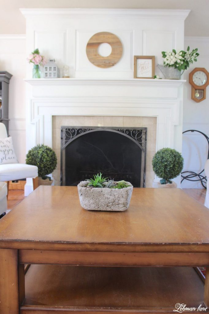 Summer Mantel Decor for our Farmhouse
