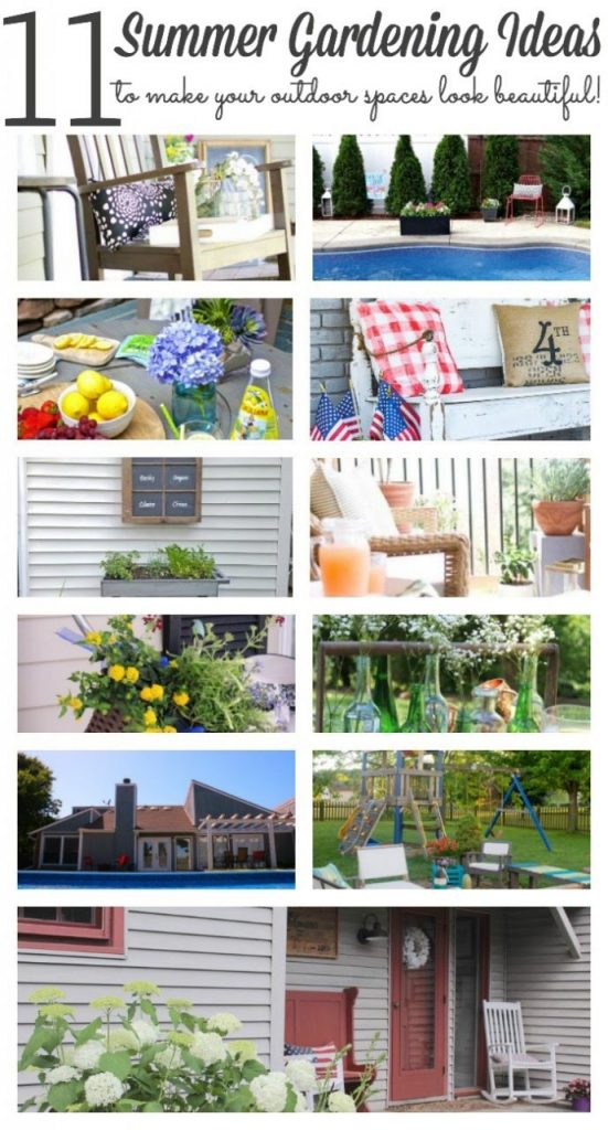 Stop by to see the summer garden of our farmhouse as well as 10 more outdoor spaces from my blogging friends!