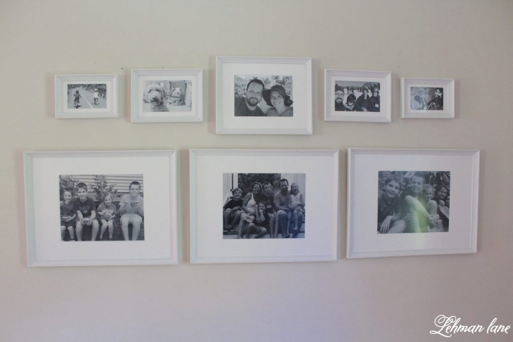 Family Photo Wall - aka theeasiest gallery wall ever