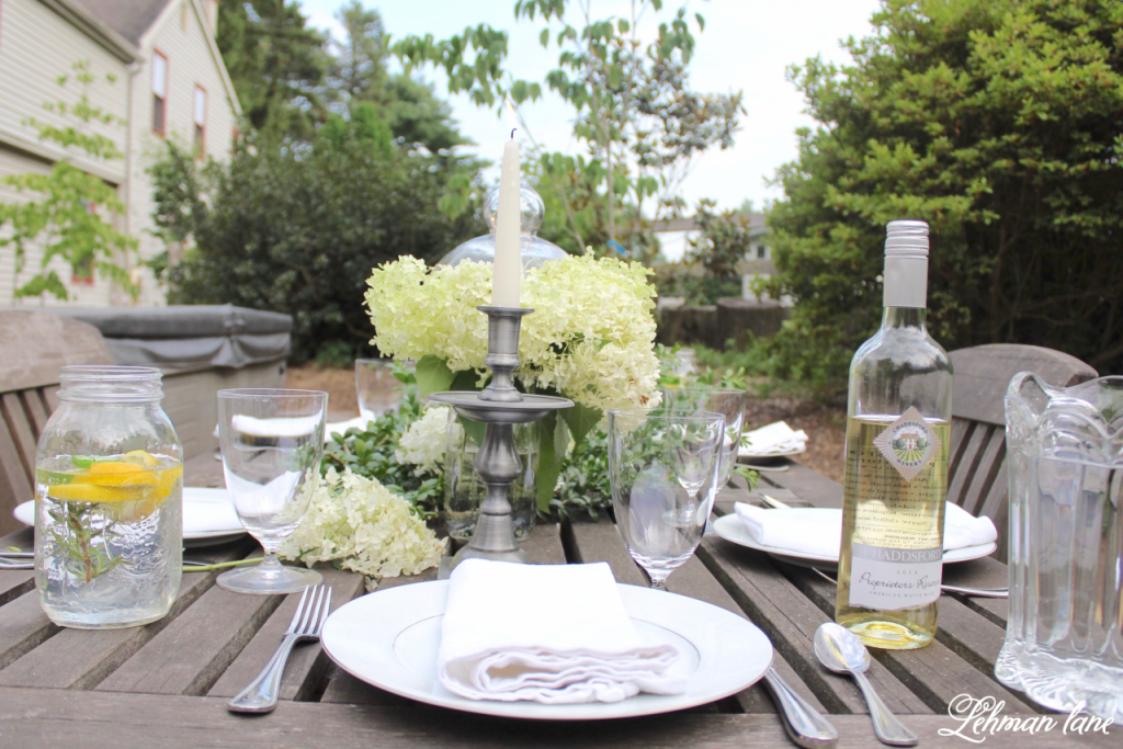 Outdoor Summer Tablescape for our Backyard Farmhouse Patio