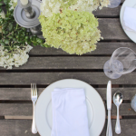 Outdoor Summer Tablescape - Back to Basics Blog Hop