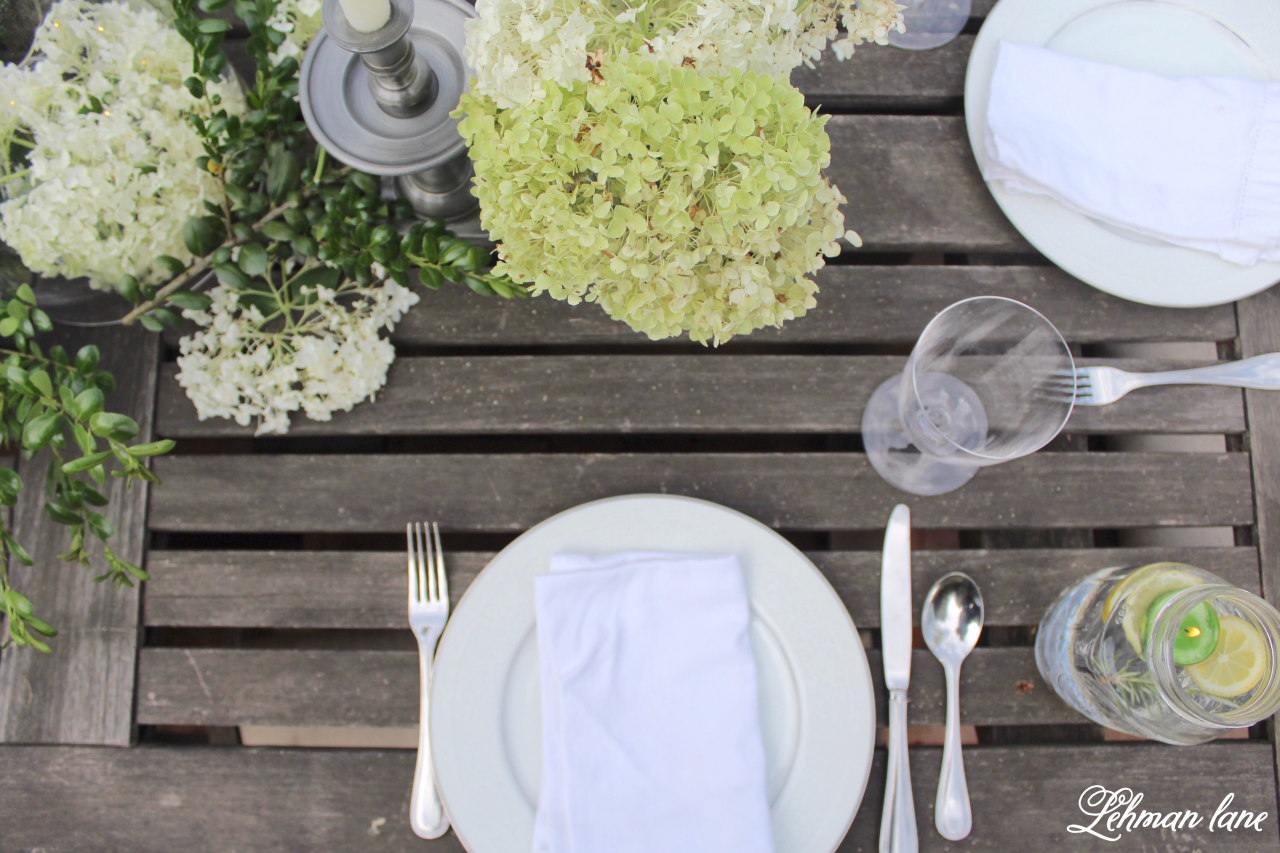 Outdoor Summer Tablescape - Back to Basics Blog Hop