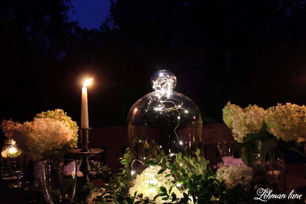 Outdoor Summer Tablescape at night
