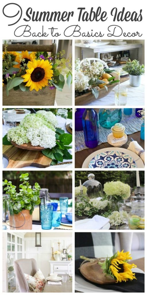 9 Summer Table Ideas - Back to Basics Decor