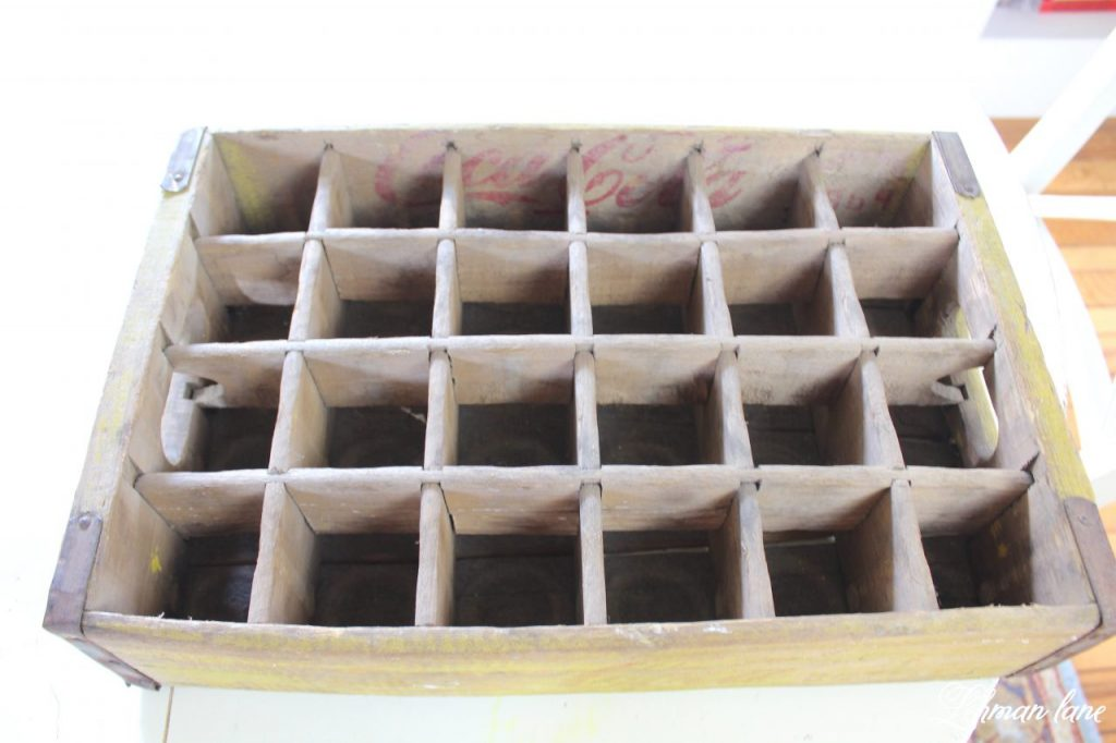 DIY Art Caddy from an Old Beverage Crate - Back to Basics and Back to School - empty crate