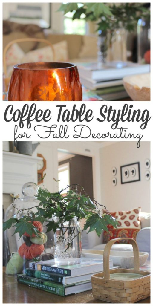 Coffee table styling can be one of the easiest ways to change up your décor for the seasons. Sharing my tips for decorating your coffee table for fall with simple tips along with even more tips from my friends. #fall #coffeetable #falldecorating http://lehmanlane.net