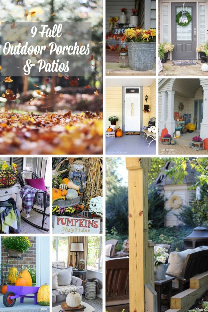 Stop by to see our fall patio and see 8 more beautiful outdoor spaces from my friends! #fallporch #fall #fallpatio