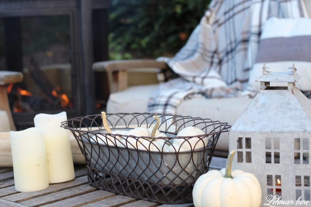 Stop by to our fall patio and see even more beautiful fall outdoor spaces from my friends! #falldecor #falloutdoors #fallpatio http://lehmanlane.net