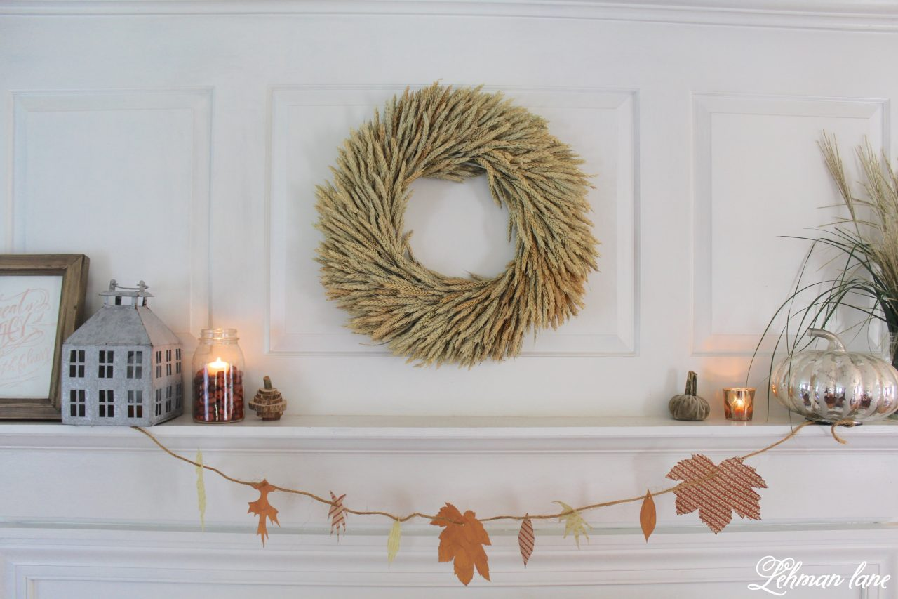 Simple Fall Mantel Decor - Decorate Your Mantel Hop - Lehman Lane