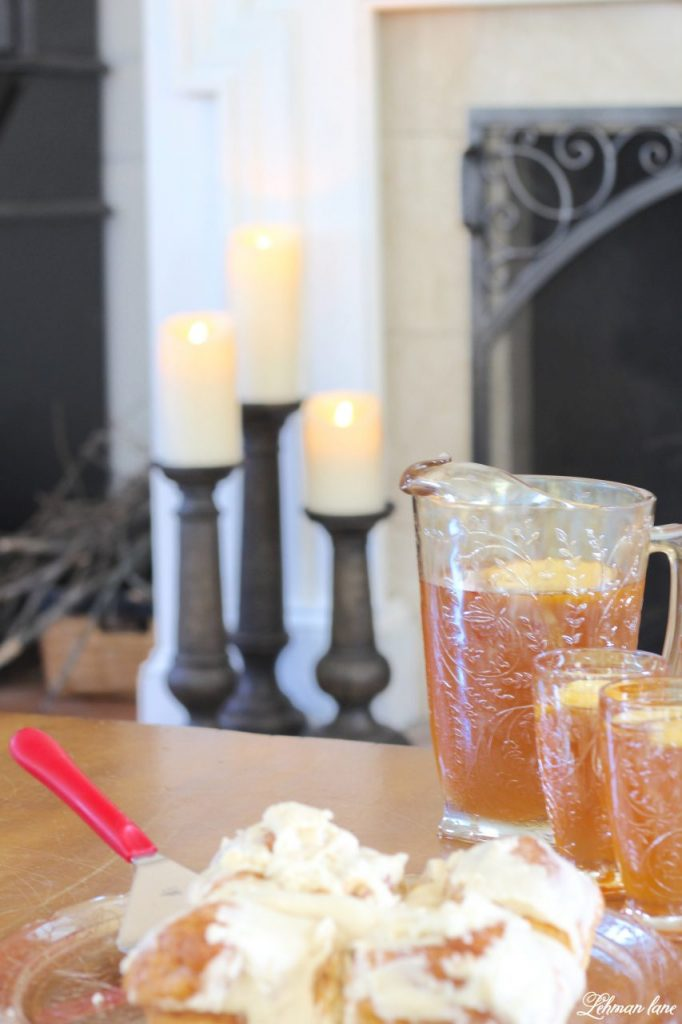 Splendor of Autumn Home Tour with Balsam Hill - faux bois walnut candle holders and LED candles