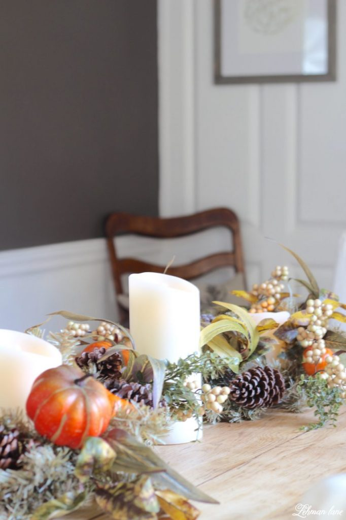 Splendor of Autumn home tour with balsam hill in the dining room