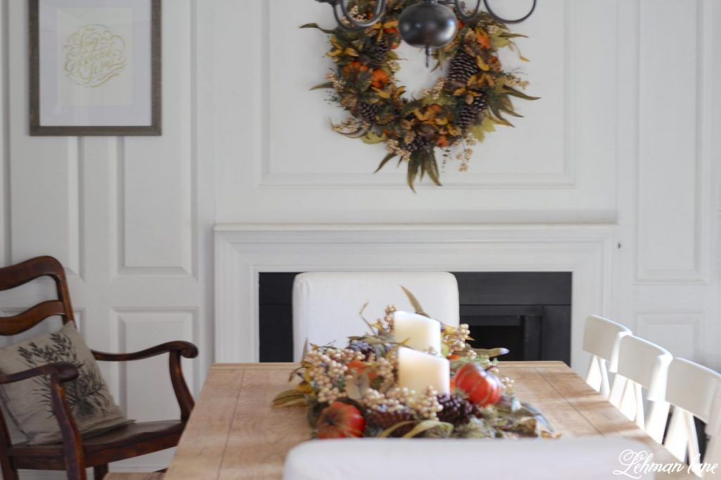 Splendor of Autumn Home Tour with Balsam Hill - autumn abundance garland and wreath